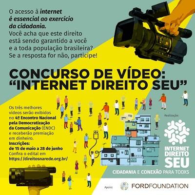 Campanha Internet Direito Seu abre concurso de curtas sobre direito ao acesso