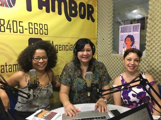 Ana Mielke e Renata Mielli participam de programa na Rádio Tambor