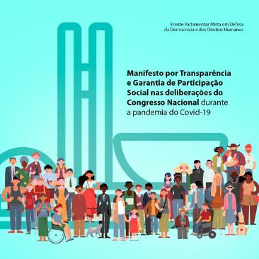 Entidades lançam manifesto por transparência e garantia de participação social no Congresso Nacional