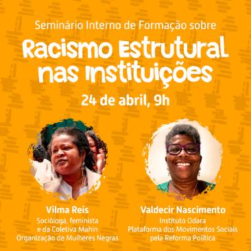 Racismo estrutural é tema de formação interna do Intervozes